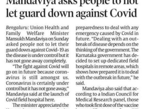 Mandaviya asks people to not let guard down against covid